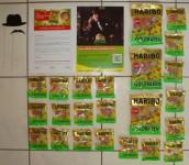 Haribo Sauer Anschreiben, Bully Plakat, 3 Haribo Goldbären Sauer Packungen, 20 Haribo Goldbären Sauer Mini Packungen, Schnurrbart und Hut