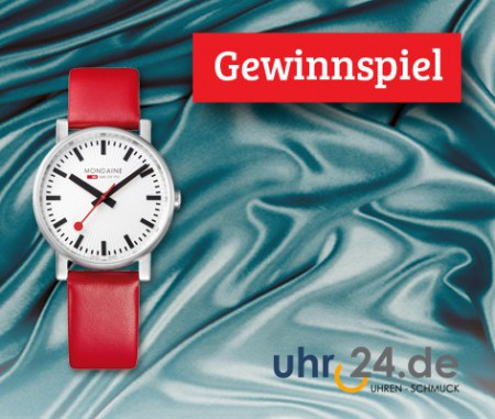 Gewinnen Sie eine Schweizer Mondaine Uhr!